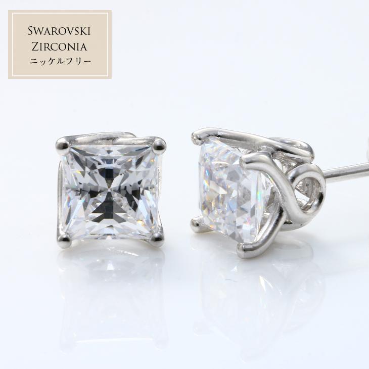 1498711fc 2.48ct Swarovski zirconia pierced earrings (lady's Swarovski pierced  earrings Shin pull gift birthday present