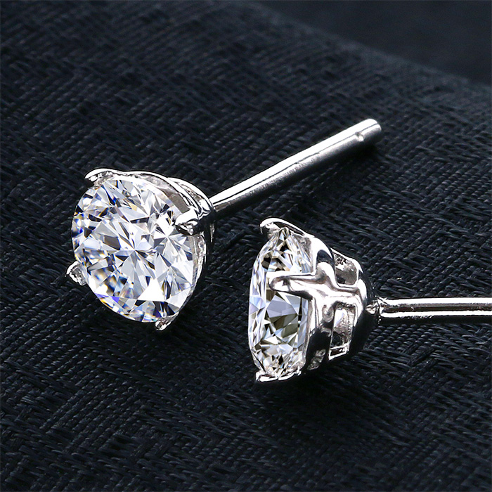 4471453eb ... zirconia one pierced earrings (other than lady's platinum cubic  zirconia birthday present jewelry allergy to metal proposal woman 40s  Swarovski zirconia ...