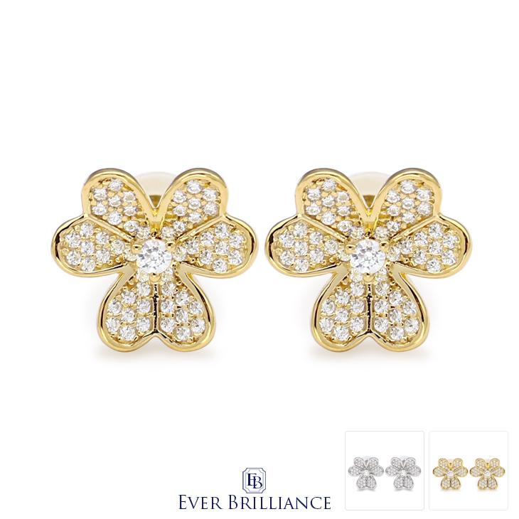 79835f7c9 Swarovski zirconia heart flower motif pierced earrings (lady's clover  flower flower motif Swarovski necklace SWAROVSKI ...