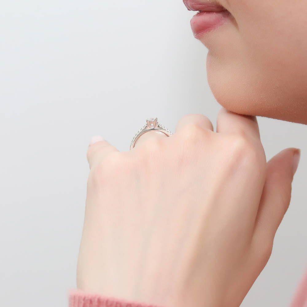 Gorgeous Emerald Ring Women Jewelry Wedding Engagement Birthday Gift Nickel Free