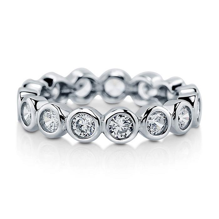 【送料無料】1.5カラット ベゼルセッティング デザイナーズフルエタニティーリング リング 指輪 レディース プラチナ リング ゴールド エタニティ エタニティー ( 誕生日プレゼント ジュエリー 女性 40代 婚約指輪 50代 エンゲージリング 結婚記念日 おしゃれ 母の日 )