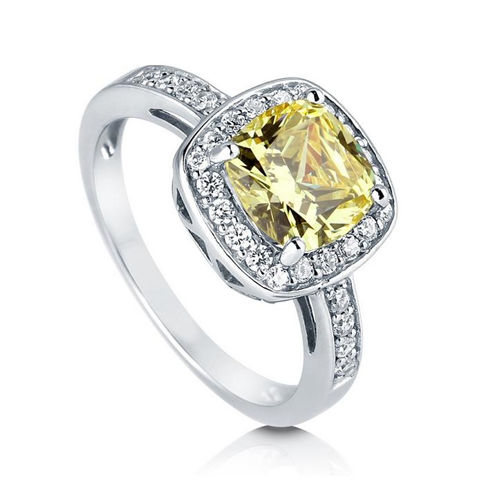 【送料無料】2.04カラット カナリアイエロー ジルコニア リング ( 指輪 レディース プラチナ リング キュービックジルコニア 誕生日プレゼント ジュエリー 一粒 女性 40代 50代 結婚記念日 エンゲージリング 婚約指輪 おしゃれ 母の日 )