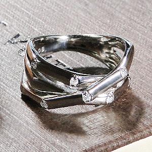【文字入れ/刻印無料】シルバー 925 ダイヤモンド メンズ リング 『Orfevre』 ピンキーリング対応送料無料 SV 男性用 メンズジュエリー 指輪 シルバーリング シルバー 銀 ペアー ギフト プレゼント バレンタイン ダイヤ ピンキー