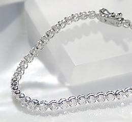 K18WG 【2.0ct】ダイヤモンドテニスブレスレット