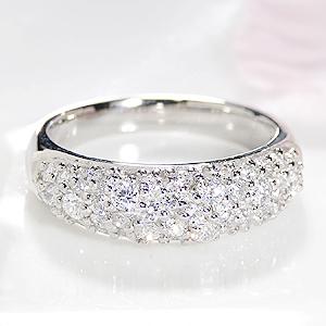 ジュエリー アクセサリー レディース 指輪 リング プラチナ ダイヤモンド パヴェ 0.7カラット エタニティ ダイア ダイアモンド pt950 送料無料 品質保証書 刻印無料