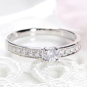 ジュエリー アクセサリー レディース 指輪 リング プラチナ ダイヤモンド 大粒 0.3カラット エタニティ ダイア 一粒 pt950 送料無料 品質保証書 刻印無料 重ねづけ ふちあり