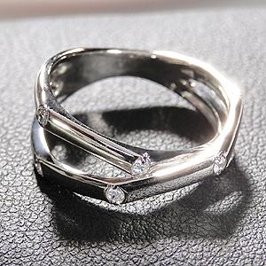 ファッション ジュエリー アクセサリー メンズジュエリー 指輪 リング プラチナ ダイヤモンド ダイア ペアリング 男性用 刻印無料 ピンキーリング 送料無料 ギフト プレゼント バレンタイン 誕生日