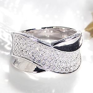 ジュエリー アクセサリー レディース 指輪 リング プラチナ ダイヤモンド リング ダイヤ リング クロス パヴェ pt950 4月 誕生石 幅広 大ぶり 送料無料 品質保証書 刻印無料