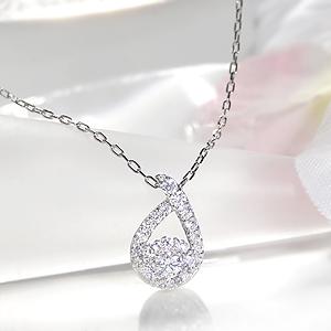 ファッション ジュエリー アクセサリー レディース ネックレス ペンダント プラチナ ダイヤモンド ダイヤ ティアドロップ 雫 つゆ 0.4カラット pt900 送料無料 品質保証書 豪華 ゴージャス
