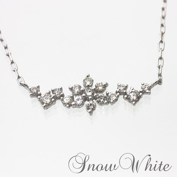 ダイヤモンド プラチナ製 品番IYP-020 ネックレス 雪の結晶 3営業日前後の発送予定