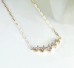 定番 k18 ダイヤモンド ネックレス サマーバレンタインデー 7月7日 流れ星 煌めき 天の川