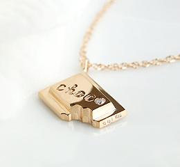 k10 YG/PG/WG ダイヤモンド チョコレート ネックレス