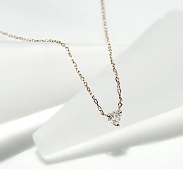 K18YG/PG ハートダイヤモンド ネックレス レディース ファッション 大人かわいい 特別 限定
