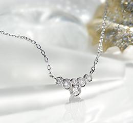 Pt900 0.16ct 真実の輝き ダイヤモンド ネックレス