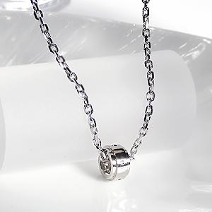 シルバー サークル ダイヤ ペンダント  送料無料 SV 男性用 メンズ メンズジュエリー ネックレス 銀 ギフト プレゼント ダイア ダイヤモンド