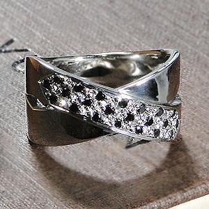 【文字入れ/刻印無料!】シルバー 925 ブラックダイヤモンド メンズ リング 『Orfevre』 ピンキーリング対応送料無料 SV 男性用 メンズジュエリー 指輪 シルバーリング シルバー 銀 ペアー ギフト プレゼント バレンタイン