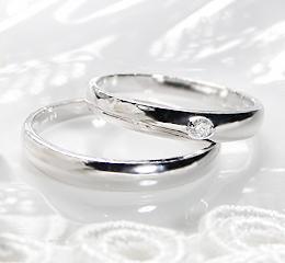 PT900 ペアリング ◆CAMOMILE◆ファッション ジュエリー アクセサリー レディース メンズ 指輪 リング プラチナ ダイヤモンド ダイア 送料無料 品質保証書・刻印無料 SIクラス プレゼント 記念日 ペア 結婚指輪