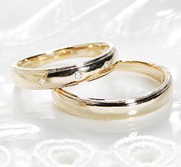 K18YG ペアリング GINGER ファッション ジュエリー アクセサリー レディース メンズ 指輪 リング ダイヤモンド ダイア ゴールド 送料無料 品質保証書 刻印無料 SIクラス プレゼント 記念日 ペアリング 結婚指輪