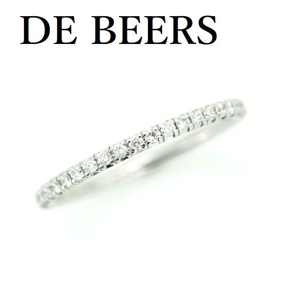 デビアス ダイヤモンド フルエタニティー リング K18WG 1.6mm 10.8号【中古】