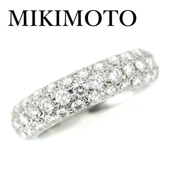 ミキモト パヴェ ダイヤモンド 1.00ct リング Pt950【中古】
