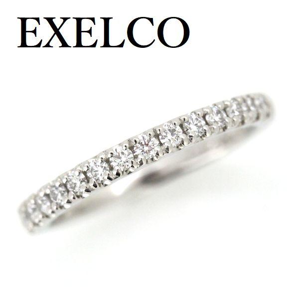 エクセルコ ダイヤモンド 0.24ct ハーフエタニティー リング Pt950【中古】