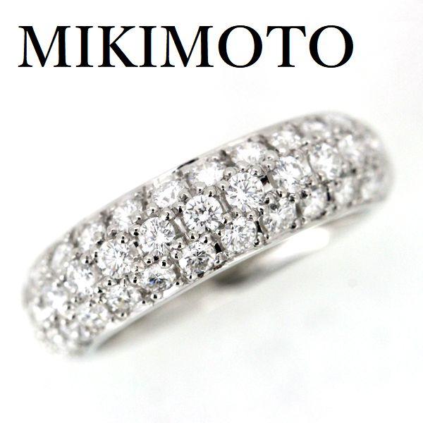 ミキモト パヴェ ダイヤモンド 0.92ct リング Pt950【中古】