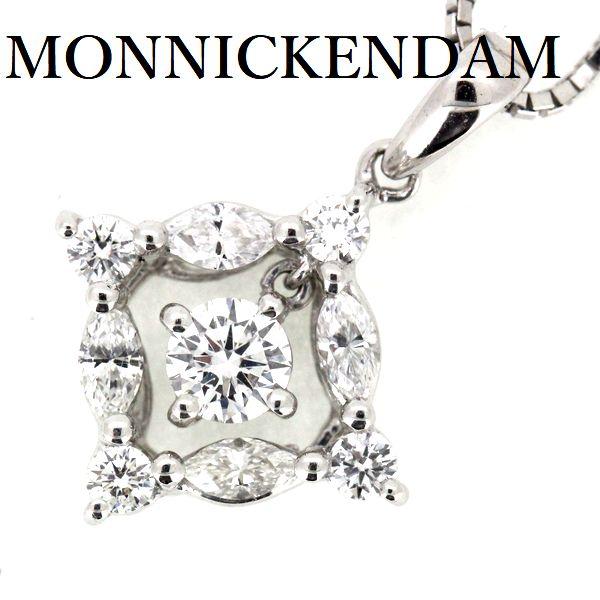 モニッケンダム ダイヤモンド 0.60ct ペンダント ネックレス K18WG【中古】