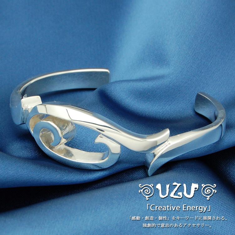 BU-37【UZU】シルバー925 ブレスレット 鏡面仕上げ【コーティング対応】