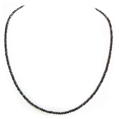 【全品送料無料】【Men's collection】【Black Dia Neckless】【ビーズタイプシンプルデザイン】【ブラックダイヤモンド ネックレス 16ct】 【PT900/850】