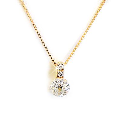 【全品送料無料】k18ネックレス ダイヤモンド ネックレス レディース シンプル 0.2ct ダイヤを美しく見せるシンプルデザイン 【One Point Setting collection】 ダイヤセッティング K18イエローゴールド ピンクゴールド ホワイトゴールド