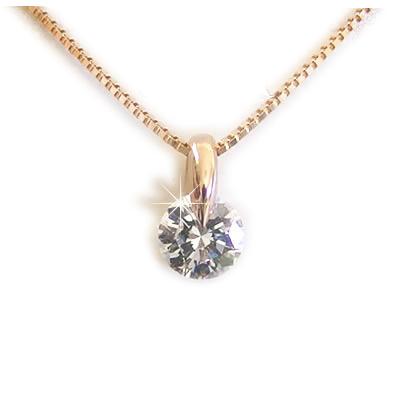 K18ネックレス ダイヤモンド ネックレス レディース 一粒 一粒ダイヤを美しく見せるシンプル デザイン 【One Point Setting collection】 天然ダイヤモンドネックレス Fカラー SI2 Good 0.5ct イエローゴールド ピンクゴールド ホワイトゴールド