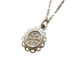 【全品送料無料】18金 k18ネックレス アンティーク調 ダイヤモンド ネックレス レディース シンプル デザイン 大人かわいい ペンダント ゴールド お祝い プレゼント