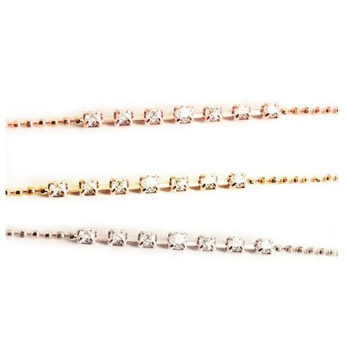【全品送料無料】K18 天然 ダイヤモンド ブレスレット7粒デザイン ダイヤモンド 0.15ctSolitaire collectionK18イエローゴールドK18ピンクゴールドK18ホワイトゴールド