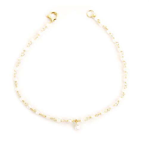 【全品送料無料】K18 天然 ダイヤモンド ブルームーンストーン ブレスレット1粒デザイン ダイヤモンド 0.1ctSolitaire collectionK18イエローゴールド