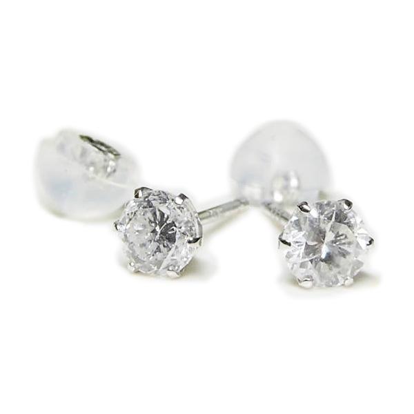 【全品送料無料】0.25ctダイヤモンドピアスひとつは持っていたい人気のプラチナ 一粒 ダイヤモンド ピアス片方0.25ct×2 トータル0.5ct大人の女性のマストアイテム!!