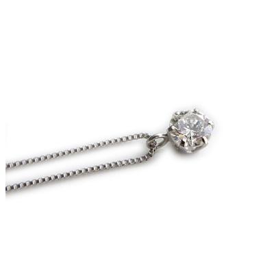 【全品送料無料】天然ダイヤモンド ネックレス 一粒 0.2ct ネックレス レディース シンプル プラチナ6本爪