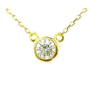 【全品送料無料】K18ネックレス 【Bezel collection】 ダイヤモンド ネックレス 一粒 0.1カラット レディース 人気の高いシンプルなクラシカルデザイン 一粒ダイヤ K18イエローゴールド K18ピンクゴールド K18ホワイトゴールド