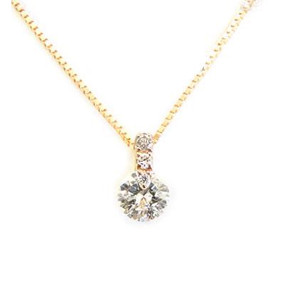 【全品送料無料】K18ネックレス ダイヤモンド ネックレス レディース シンプル 0.3ct ダイヤを美しく見せるシンプルデザイン ダイヤセッティング 【One Point Setting collection】 K18イエローゴールド ピンクゴールド ホワイトゴールド