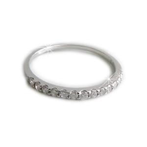 【全品送料無料】0.2カラットUP ハーフエタニティリング天然ダイヤモンド14石が輝くシンプルなリングK18イエローゴールド K18ピンクゴールドK18ホワイトゴールド