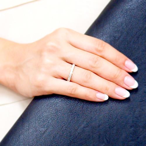 プラチナ 【アイスダイヤモンド】ダイヤモンド0.5ct ハーフエタニティリング PT900 指輪 0.5カラット ダイアモンド レディース プレゼント ギフト 記念日 誕生日