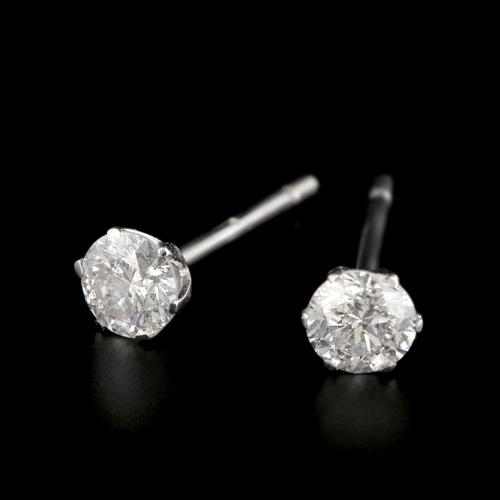 プラチナ ダイヤモンド0.3ct 1粒ピアス 0.3カラット PT900 1石 シンプル ダイアモンド レディース プレゼント ギフト 記念日 誕生日