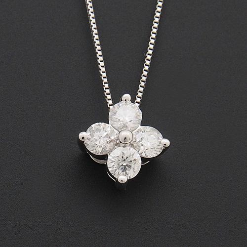 プラチナ ダイヤモンド0.5ct フラワーネックレス ペンダント 0.5カラット PT900 ダイアモンド レディース プレゼント ギフト 記念日 誕生日