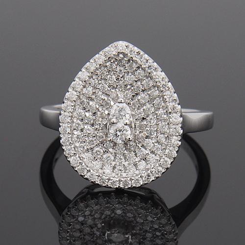 18金 ダイヤモンド0.5ct しずくリング K18WG ホワイトゴールド K18PG ピンクゴールド 指輪 ダイアモンド レディース プレゼント ギフト 記念日 誕生日