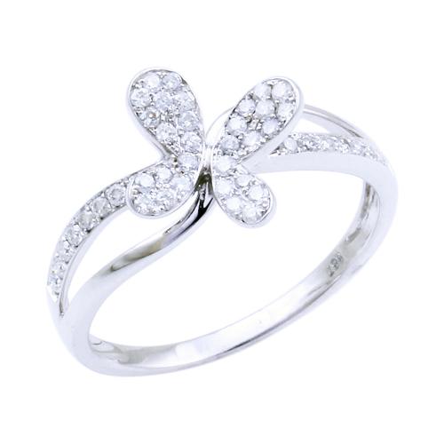 プラチナ ダイヤモンド0.3ct バタフライリング 蝶 0.3カラット Pt900 指輪 ダイアモンド レディース プレゼント ギフト 記念日 誕生日