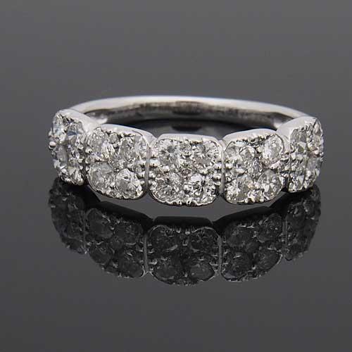 プラチナ ダイヤモンド1.0ct フラワーデザインリング プレッシャーセッティング 1カラット Pt900 指輪 ダイアモンド レディース プレゼント ギフト 記念日 誕生日