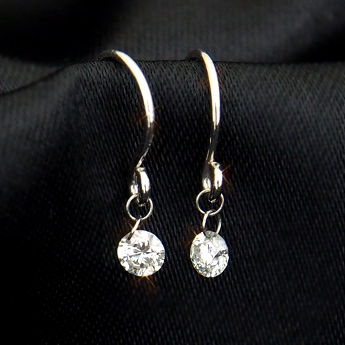 【20%OFF16日9:59まで】18金 ダイヤモンド0.1ct レーザーホール シンプルピアス 裸石 0.1カラット 指輪 K18WG ホワイトゴールド ダイアモンド レディース プレゼント ギフト 記念日 誕生日
