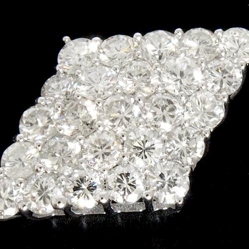 18金 ダイヤモンド1.5ct ダイヤモチーフダイヤモンドネックレス 菱形 ペンダント 1.5カラット K18WG ホワイトゴールド K18PG ピンクゴールド ダイアモンド レディース プレゼント ギフト 記念日 誕生日