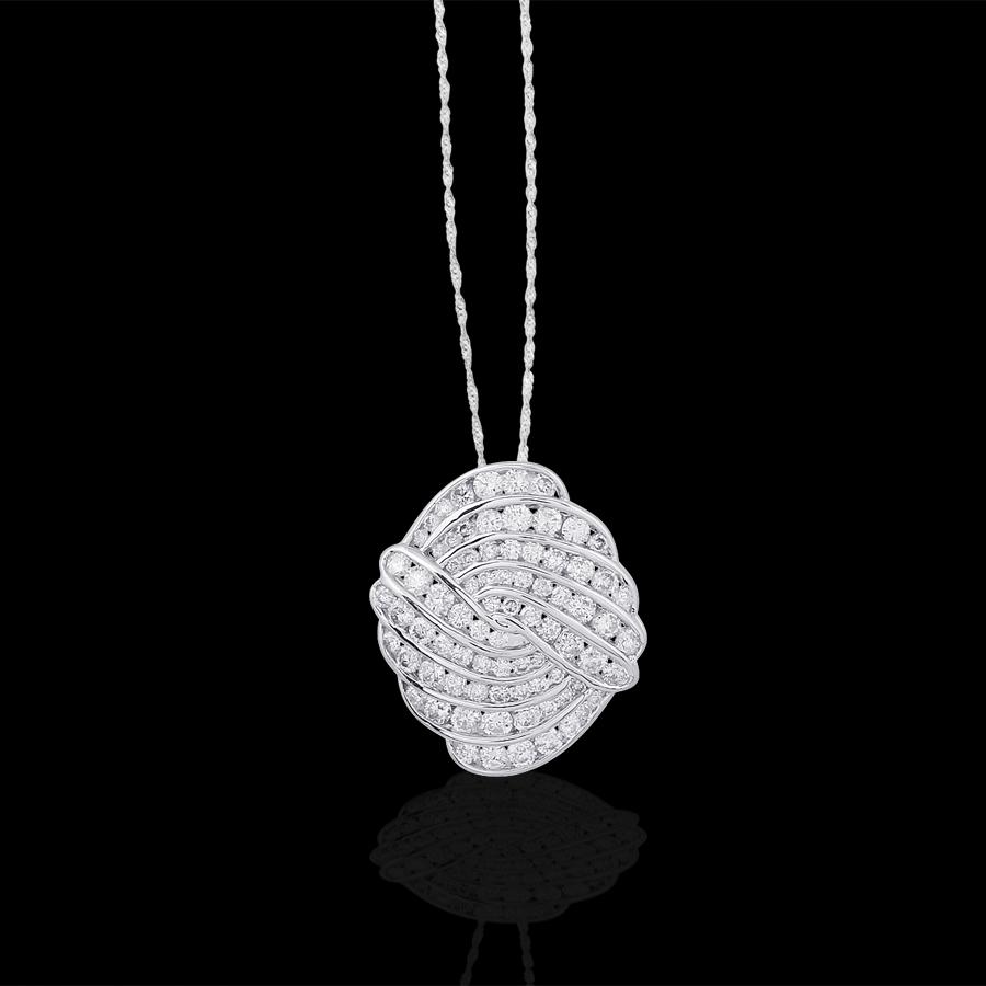 18金 ダイヤモンド1.5ct デザインペンダント ペンダント 1.5カラット K18WG ホワイトゴールド ダイアモンド レディース プレゼント ギフト 記念日 誕生日