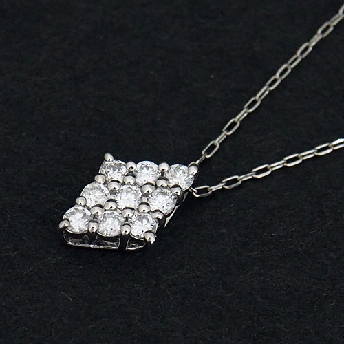 プラチナ ダイヤモンド0.2ct ダイヤ型ネックレス 菱形 0.2カラット ペンダント Pt900 Pt850 ダイアモンド レディース プレゼント ギフト 記念日 誕生日