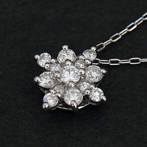 プラチナ ダイヤモンド0.2ct スノーネックレス 結晶 菱形 0.2カラット ペンダント Pt900 Pt850 ダイアモンド レディース プレゼント ギフト 記念日 誕生日